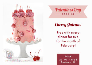 White and Pink Cherry Valentines Flyer Pink Flyers