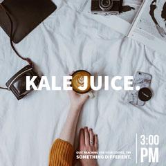 Light Toned Kale Juice Ad Instagram Post Juice