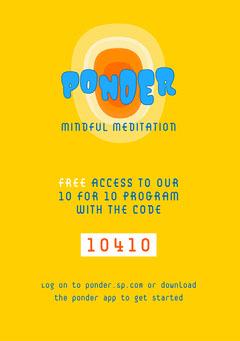 Yellow Meditation Code Flyer Promotion