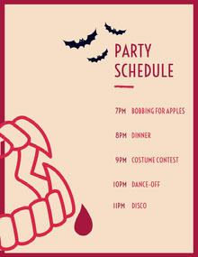 Fang Tastic Halloween schedule Pianificazione