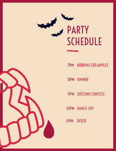 Fang Tastic Halloween schedule Halloween Party Schedule