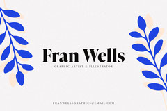 Floral Fran Wells Business Card Business