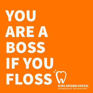 Orange and White Dental Catchphrase Instagram Post Dentist Poster