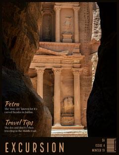 Excursion Travel Magazine Cover  Desert