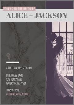 Pastel Colored Elegant Wedding Invitation Card Couple