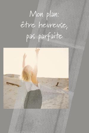 Grey texture To Be Happy Not Perfect Pinterest  Affiche de motivation