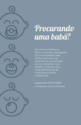 Procurando uma babá? Panfletos