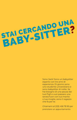 babysittingflyers  Volantino