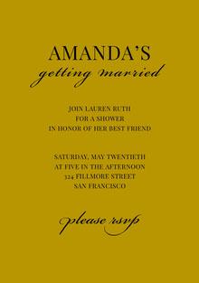 AMANDA'S  Invitación de boda