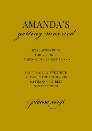 AMANDA'S  Bridal Shower Invitation