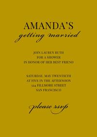 AMANDA'S  Invitación a despedida de soltera