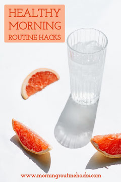 Orange Healthy Morning Routine Pinterest Graphic Healthy