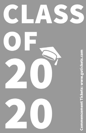 Gray Typographic Graduation Poster Graduation Card