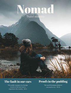 nomad magazine cover  Mountains