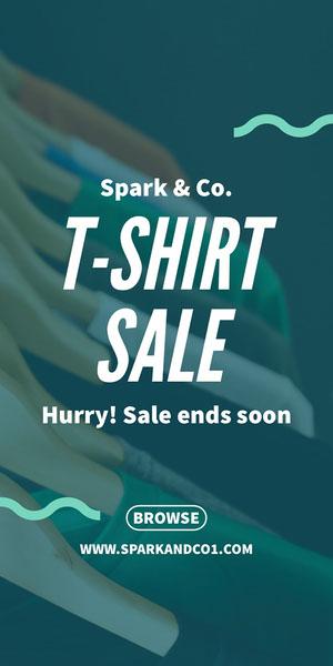 T-SHIRT<BR>SALE Flyer de anúncio