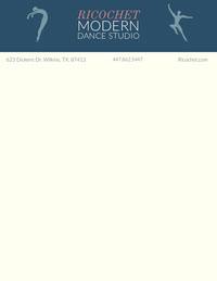 Blue Illustrated Dance Studio Letterhead Letterhead Templates
