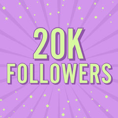 Purple & Green 20K Followers Instagram Square Stars