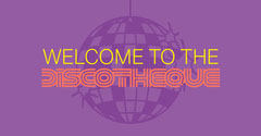 Purple Retro Disco Facebook Post Graphic Groovy