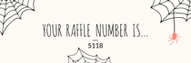 Spider and Cobweb Halloween Party  Raffle Ticket Scary