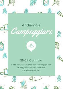 Campeggiare<BR> Invito