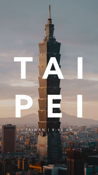 Cold Toned Skyscraper Taipei Travel Ad Instagram Story Top Templates of 2019