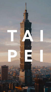 TAI PEI Taiwan Travel Animated Instagram Story Social Post Top Templates of 2019