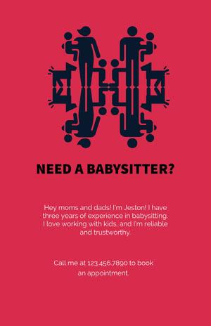 Need a babysitter? Babysitting Flyer