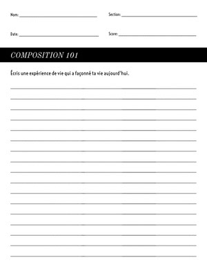 writing composition worksheet  Fiche d'exercices
