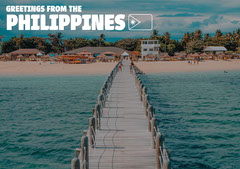 Greetings From Philippines Postcard Beach