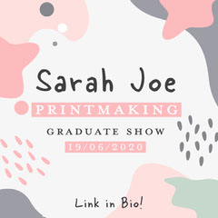 Pink Printmaking Graduate Show Instagram Square Educational Course