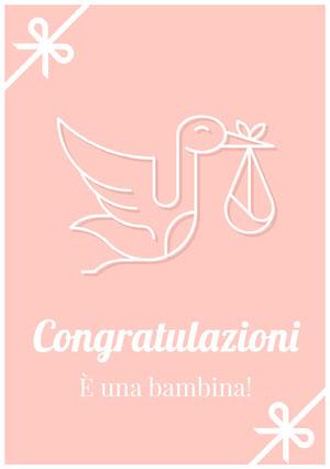 it's a girl congratulations cards Biglietto di congratulazioni