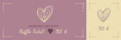 Purple and Beige, Valentines Day Party Ticket Holiday Party Flyer