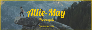 Yellow Photographer Horizontal Ad Banner with Woman on Cliff Ads Banner