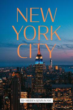 blue and orange New York City pinterest  Ocean