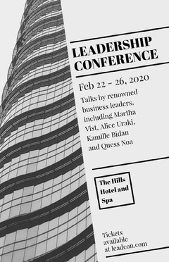 Gray Skyscraper Business Leadership Conference Event Flyer Conference Flyer