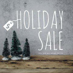 Grey and White Toned Holiday Sale Ad Instagram Post Holiday Sale