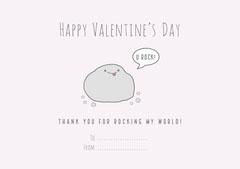 Gray You Rock Valentine's Day Card Valentine's Day
