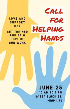 call for volunteers poster Volunteer