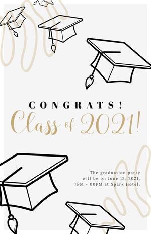 2021! Cartão de graduação