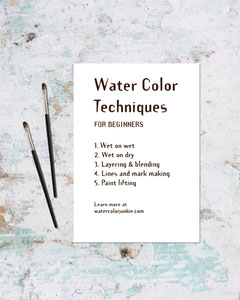 watercolor technique instagram portrait  Water