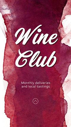 Red Wine Club Instagram Story Drink
