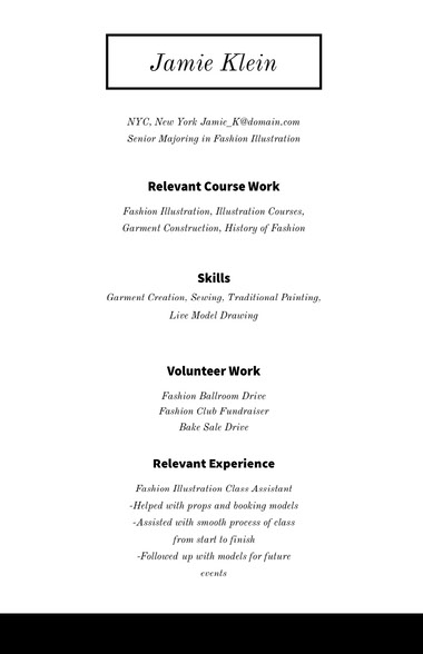 Black and White Professional Resume Best Fonts for Your Résumé