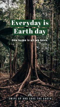 Earth Day Forest Instagram Story  Forest