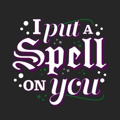 Black & Purple Typographic Halloween Instagram Square Scary