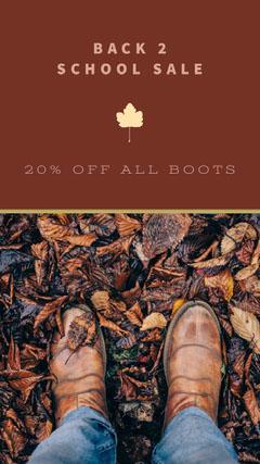 Brown Shoes Sale Flyer Shoes
