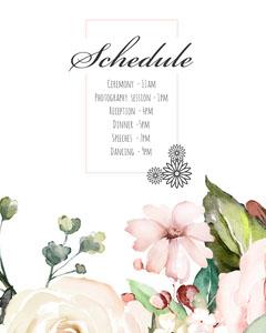 Naomi Wedding Schedule Instagram Portrait Weddings