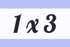 1 x 3 Math