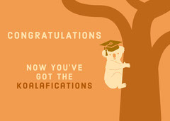 Orange and White Congratulations Card Graduation Congratulation