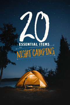 Yellow Blue and White Tent Under Starry Sky 20 Essential Items For Night Camping Pinterest Post Stars