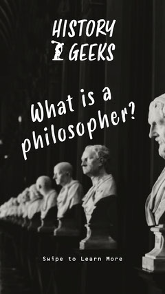 Black & White What is a Philosopher Instagram Story  History